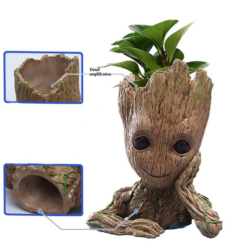 3D Baby Flowerpot Action Figures Home Decor Groot Model Toy Pen Pot PVC Hero Creative Guardians Of The Galaxy Crafts Figurine