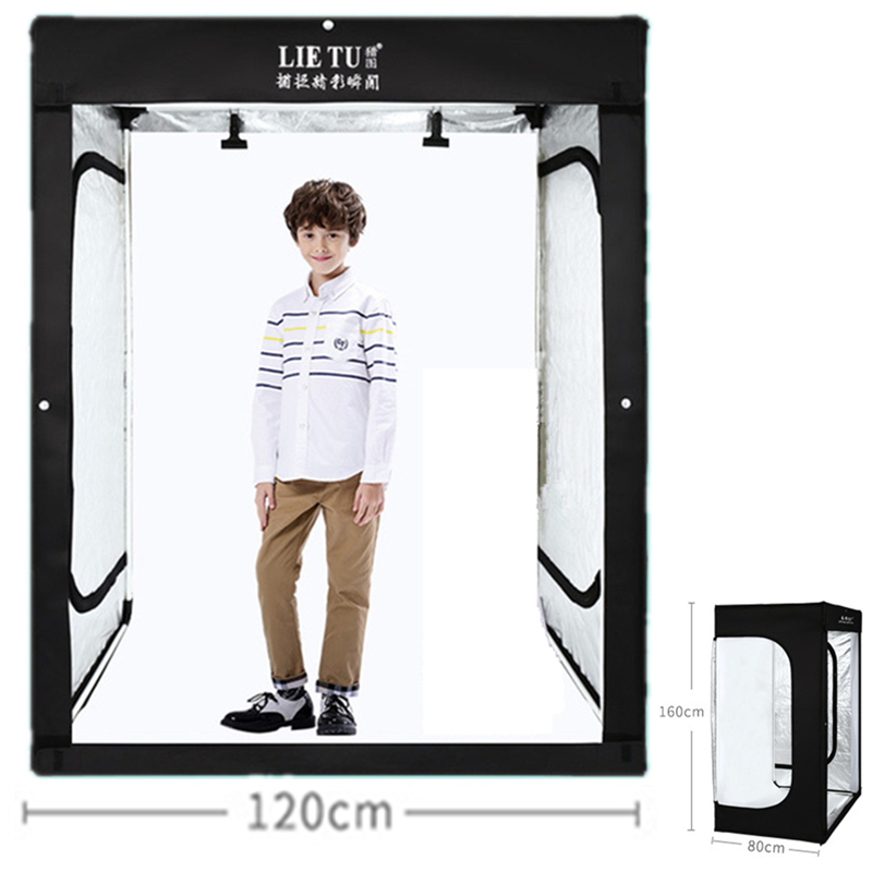 160cm 5.25ft Photo Tent Tabletop Shooting LED Lighting Softbox Studio Box for Adult Model Portrait Clothes Guitar Furniture puluz 40 40cm 16light photo studio box mini photo studio photograghy softbox led photo lighting studio shooting tent box kit