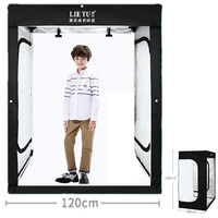 160cm 5.25ft Photo Tent Tabletop Shooting LED Lighting Softbox Studio Box for Adult Model Portrait Clothes Guitar Furniture
