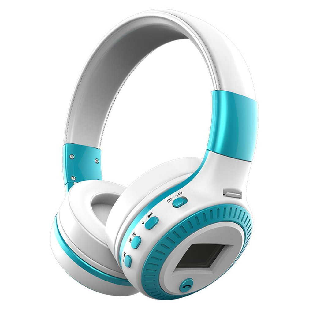 B19 Wireless Stereo Bluetooth Headsets Headphone LCD Display With Mic FM Radio