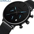 27c2bad7bff0 CRRJU estilo único Reloj Hombre relojes superior de la marca de lujo de  deporte cronógrafo Reloj