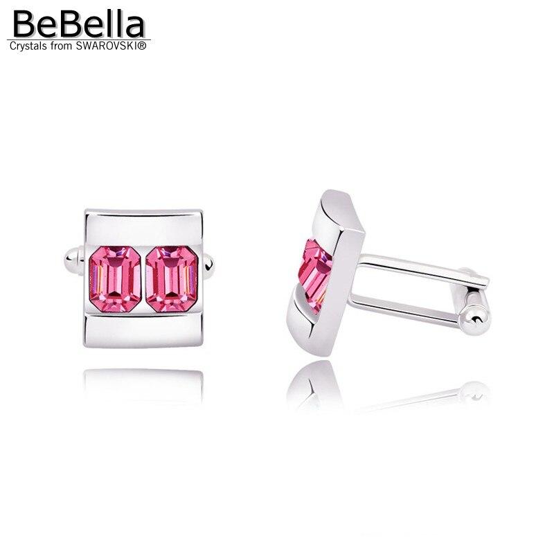 BeBella 5 цветов запонки с кристаллами сделаны с элементами Swarovski для подарка на День отца - Окраска металла: Rose