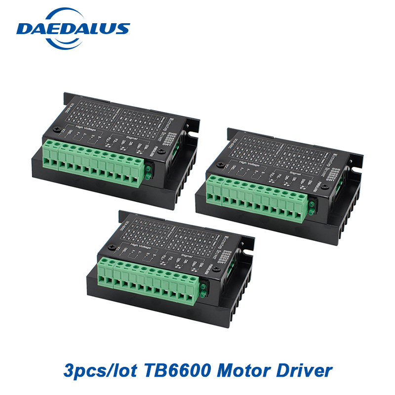 3PCS Tb6600 Stepper Motor Driver Controller 4a 9~42v Micro-step Cnc 1 Axis New Upgraded Version Of The 42/57/86 tb6600 stepper motor driver controller 4a 9 42v ttl 16 new upgraded version of the 42 57 86 stepper motor micro step cnc 1 axis