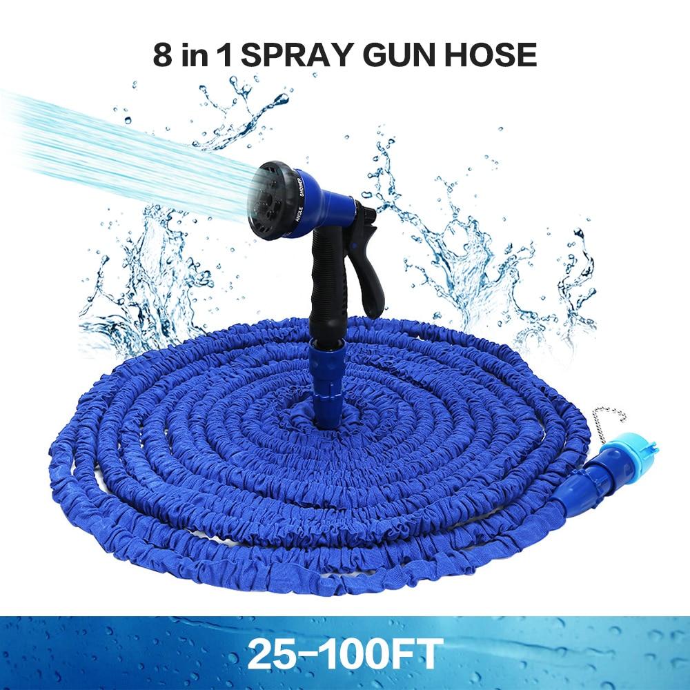Hot Sale 25 100 FT Expandable Magic Flexible Garden Water Hose For Car Hose Pipe Plastic