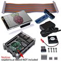 """Miroad Starter Kit para Raspberry Pi RPI 3 2 Modelo B B + (8-Items) com Wi-fi 150 Mbps 11n Adaptador USB + 3.5 """"tela sensível ao toque SC04"""