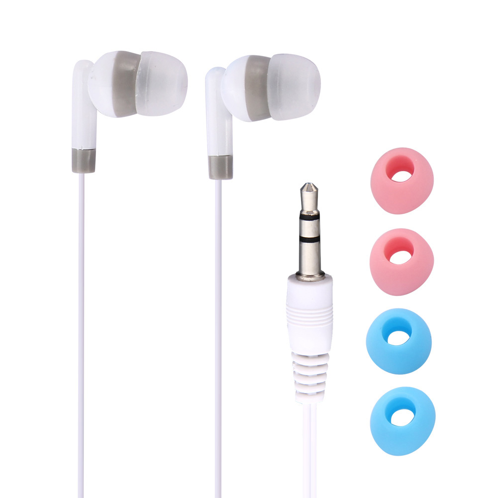 Portable 3.5mm Jack Earpiece Inear Earbud Earphone with 2 pairs earplugs For iPhone 4 MP3 MP4 PSP