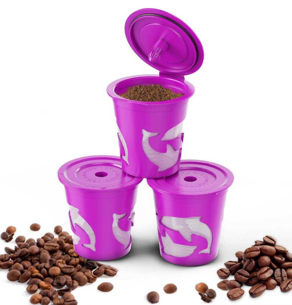 3pcs/set Keuring Refillable coffee Capsule Reusable K-cup Filter for <font><b>2.0</b></font> & 1.0 <font><b>Brewers</b></font> k cup reusable for <font><b>Keurig</b></font> machine