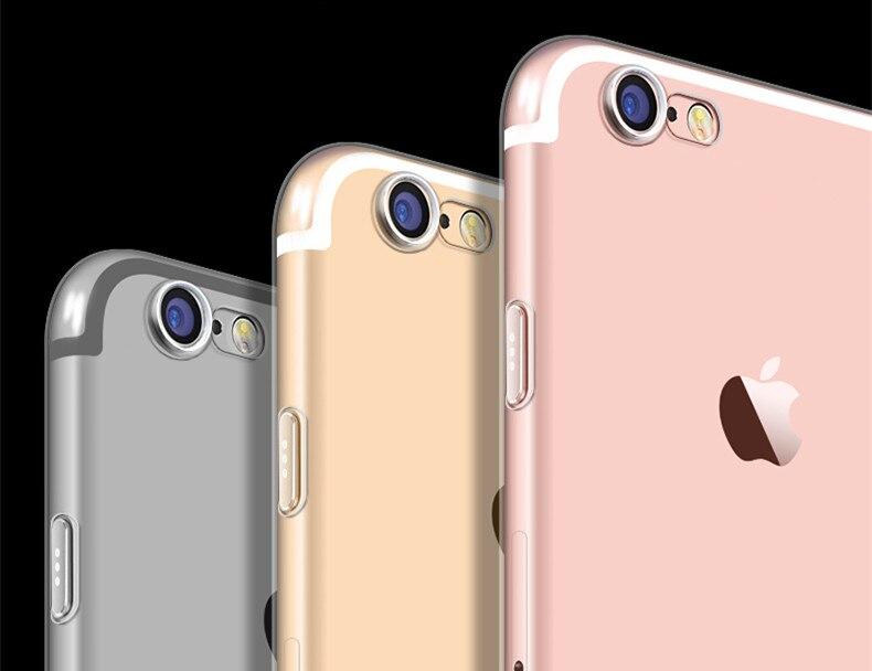 Lujo transparente clear case para apple iphone iphone 7 iphone 7 Plus Gel de Síl