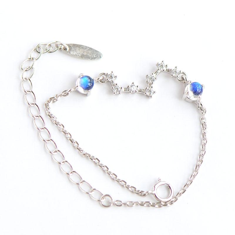 Népal Bali Naturel Moonstone Blacelets D'argent et Bracelets, pur 925 Sterling Bracelet En Argent Pour Les Femmes, Bijoux Pour la Vente En Gros