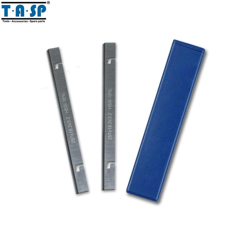 """TASP 257mm HSS storio obliavimo peiliukas 257x18,2x3,2 mm medienos žnyplių peilis, skirtas """"MacAllister"""" COD1500PT"""