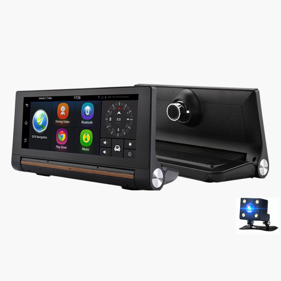 Newest IPS Car DVR 5 0 Android Touch Screen ROM 16GB Europe GPS Navigation in DVR Dash Camera from Automobiles Motorcycles