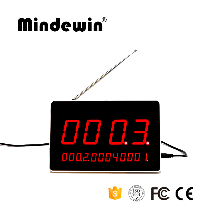 Mindewin Restaurant Wireless Queue Management System Electronic Table Number LED Display Queuing Call Systems