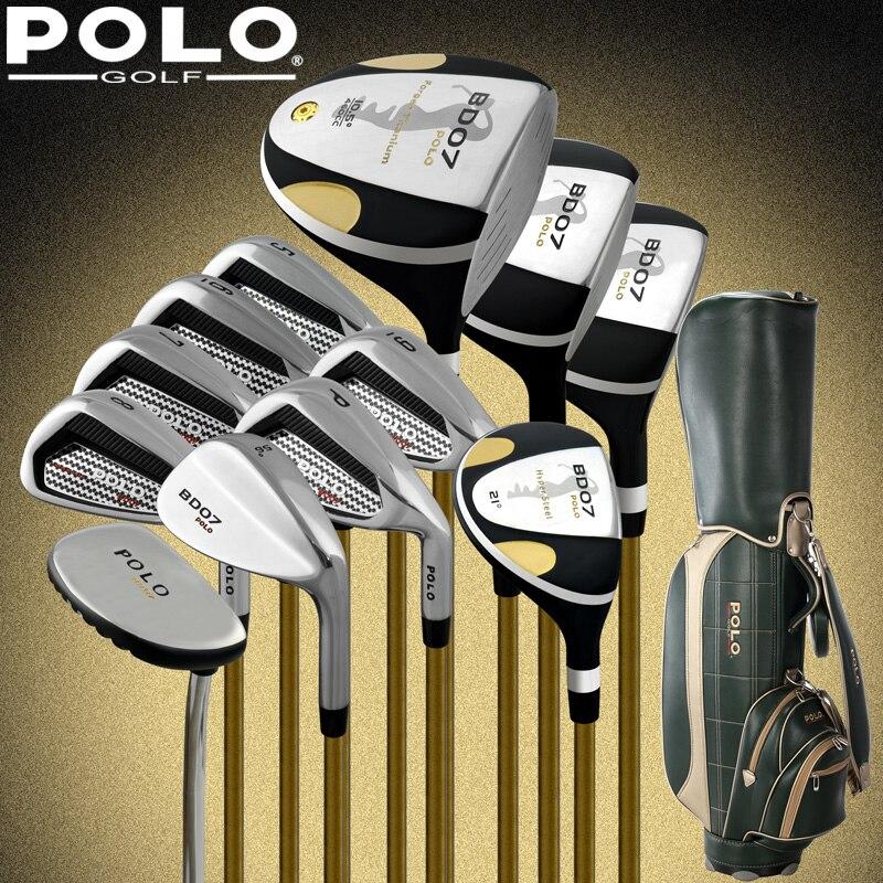 Colecciones y jugador profesional de golf clubs polo conjunto completo con bolsa
