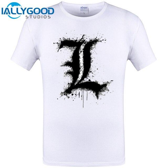 Cool Letter L Design Men T Shirt 2017 New Fashion Tops Short Sleeve O Neck