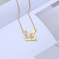Custom Family Figure Necklace Personalized Jewelry Gold Stainless Steel Nameplate Choker Necklace Women Child Christmas Gift