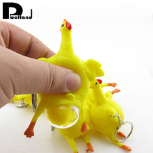 1pcs Chicken Egg Ball Squeeze Toys Stress Relief Antistress Trick Toy For Kids Keys Ring Novelty