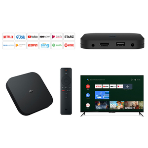 Image 4 - Orijinal küresel Xiao mi mi TV kutusu S 4K HDR Android TV 8.1 Ultra HD 2G 8G WIFI Google Cast Netflix IPTV Set top Box medya oynatıcı