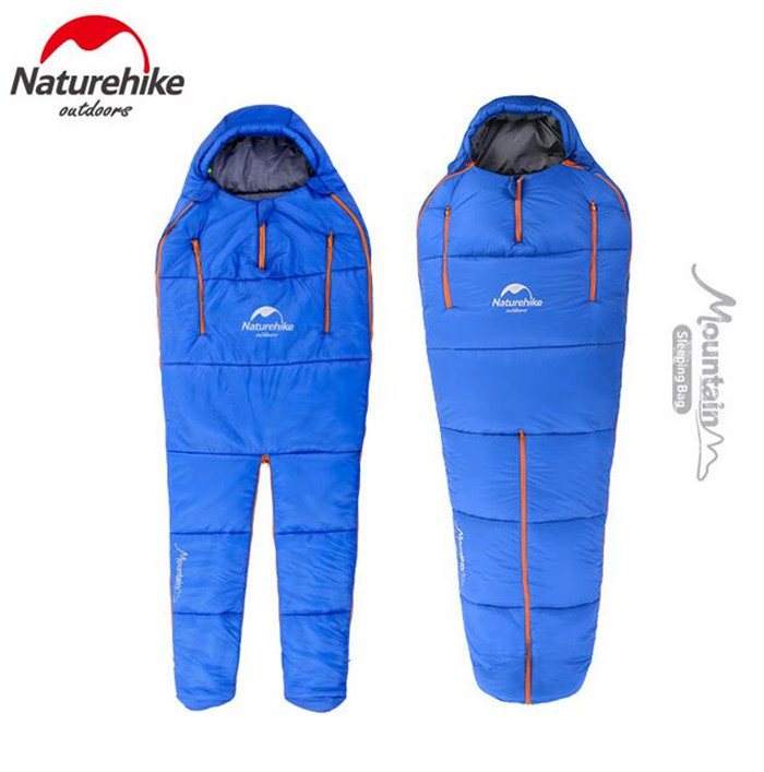 купить Naturehike Splicing Mummy Single Sleeping Bag Cotton Leg Split Family Outdoor Indoor Human Shape Adult Camping Sleeping Bag по цене 3937.06 рублей
