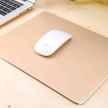 Роскошный алюминиевый металлический игровой коврик для мыши ПК компьютер Ноутбук игровой коврик для мыши для Apple MackBook sc2 dota 2 lol cf
