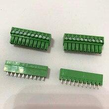 10 комплектов вставной печатной платы клеммный блок 2EDGK Шаг 3,81 мм 2P 3P 4P~ 16P MC1.5 Феникс терминал прямой иглы сиденья