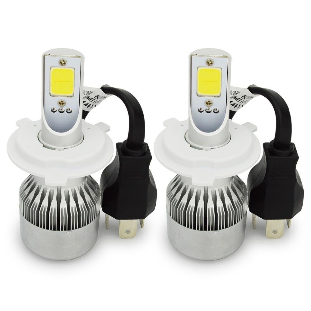 Safego H4 Hi Lo Car LED المصباح المصابيح عدة 72W - أضواء السيارة