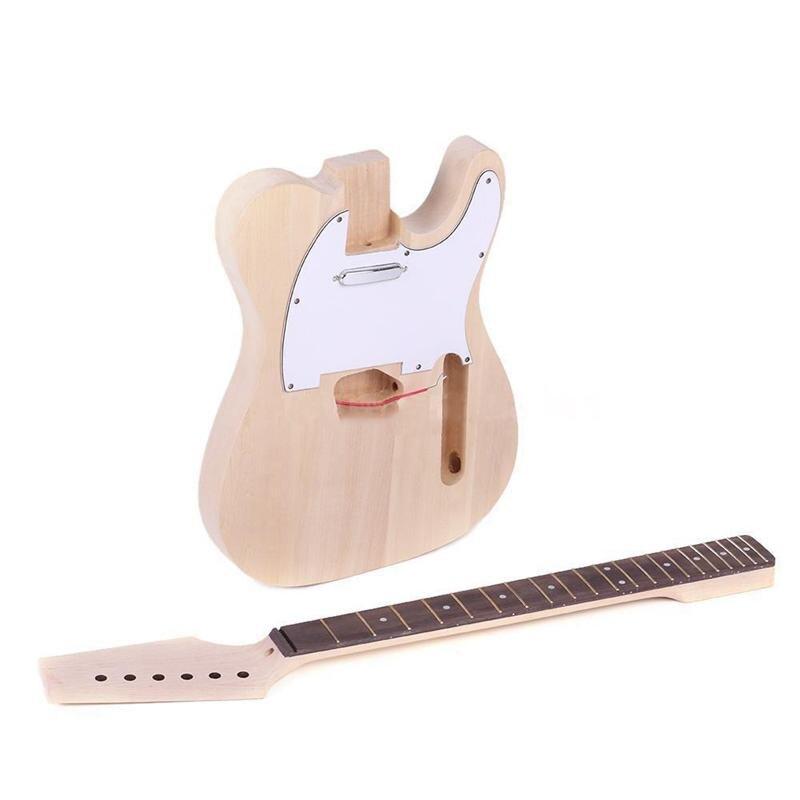 Haute qualité TL Style inachevé bricolage électrique guitare Kit érable cou - 4