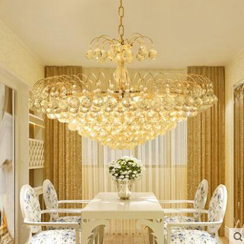цена European crystal led living room dining chandeliers golden bedroom chandeliers crystal lamps restaurant chandeliers lighting LED