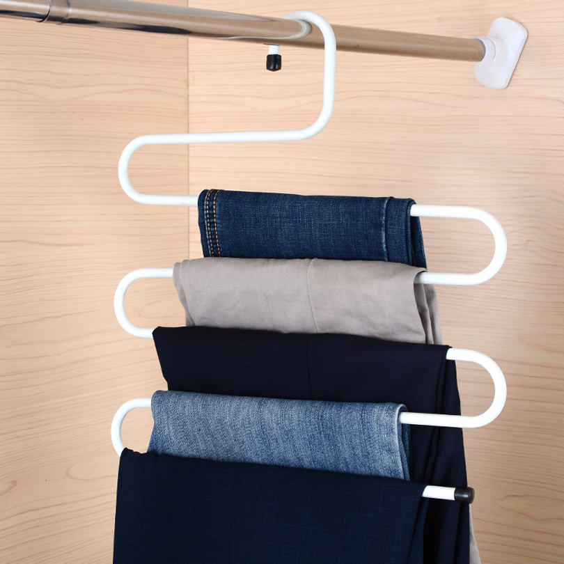 Creative Clothes hanger Drying racks S model Clothing & Wardrobe Storage cabide Multifunction telescopic cintres pour vetements