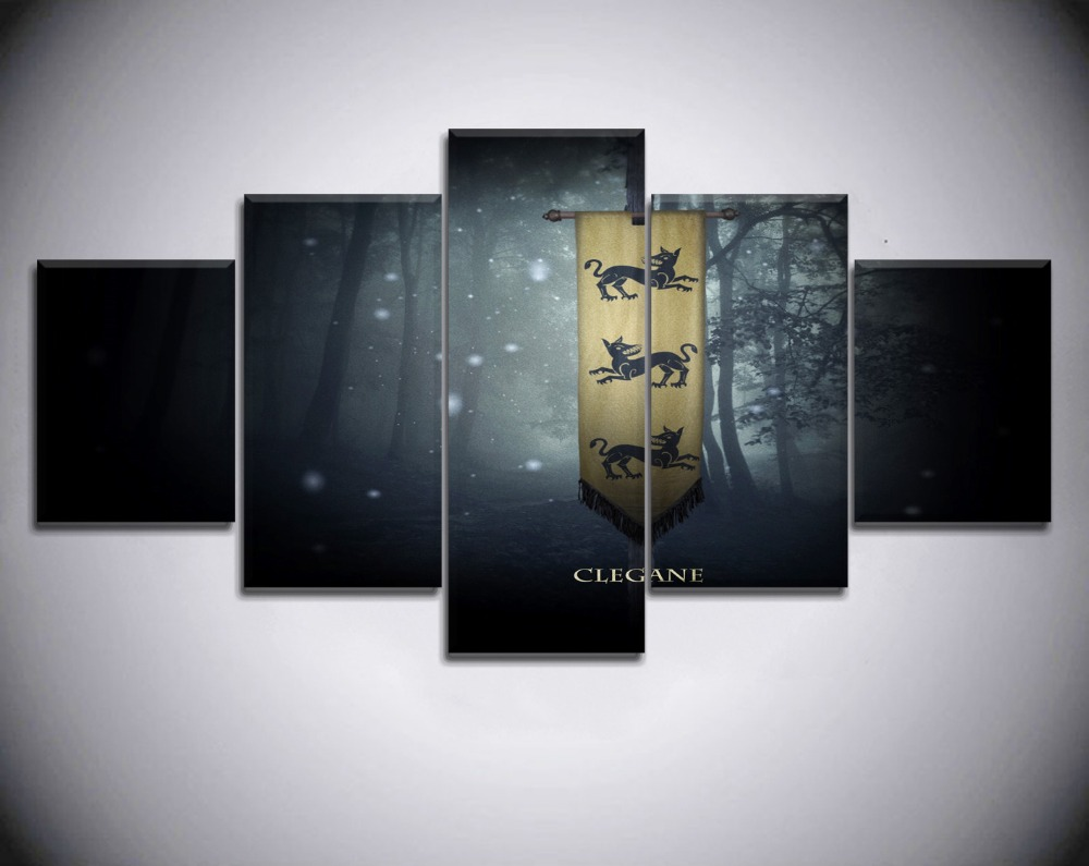 Canvas Pictures HD Print Wall Art 5 Pieces Game of thrones Movie Home Decor Boys Bedroom Painting Modular Poster Modern Frame in Painting Calligraphy from Home Garden