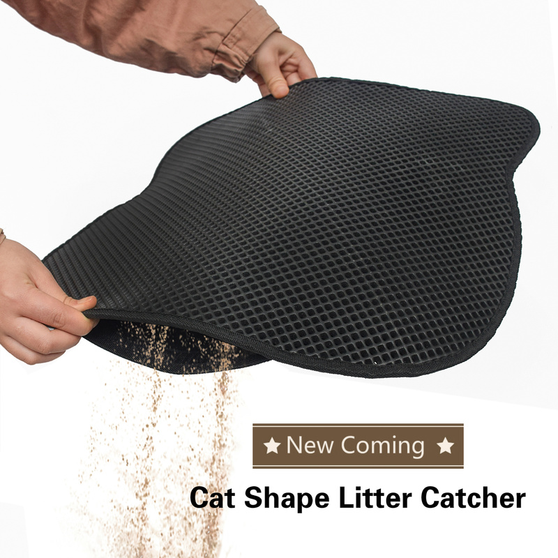 Cat Litter Pad Water Proof Double layer Cat Litter Pad Catcher Mat Eco friendly Kitten Rug Household Sand Cleaning Cat Kennel