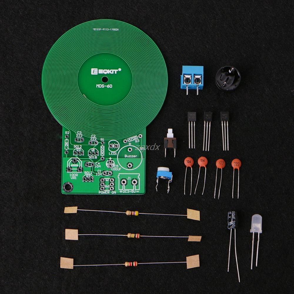 Diymore Diy Simple Metal Detector Locator Kit Dc 3v 5v Circuit Using Transistor 60mm Non Contact Electronic Sensor Board
