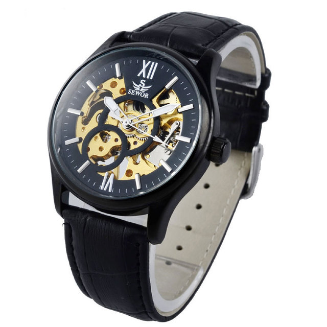 Top Brand Luxury Mens Women Watch Fashion Mechanical Wristwatches Leather Strap Sport Relogio Masculino Hour Clock Gifts +Box