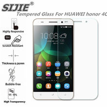Tempered Glass For HUAWEI honor 4C Screen protective 5 inch cover smartphone toughened case 9H on crystals thin clear(China)