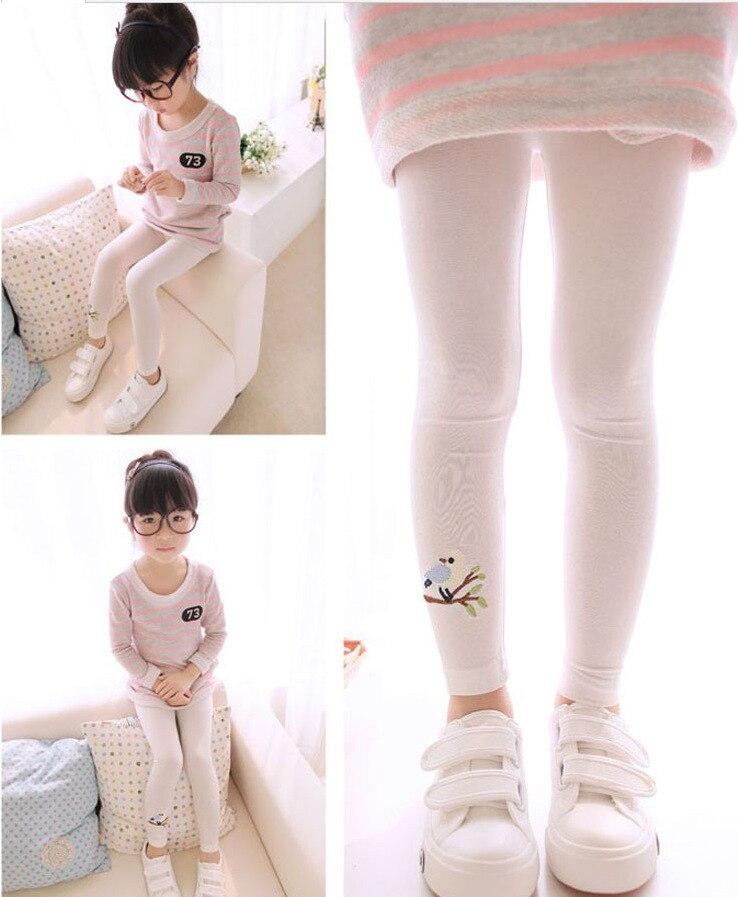New Toddler Baby Girls Kids Skinny Pants Warm Leggings Girl Bird Pattern Stretchy Pants Trousers Hot 9