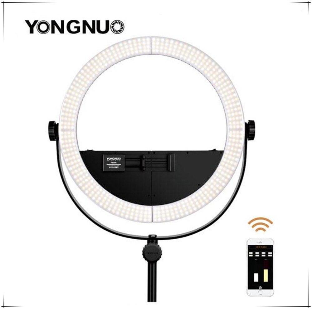 Chaude YONGNUO 2 en 1 Youtube LED Vidéo Anneau Lampe YN508 Photographie de lumière D'anneau De Téléphone 5500 K pour iPhone 8 7 6 plus X Samsung Mobile