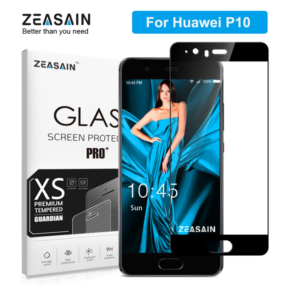 ZEASAIN Full Cover Tempered Glass για Huawei P10 P 10 Screen Protector 5.1 Inch 2.5D 9H Hardness Premium Glass Safety Film