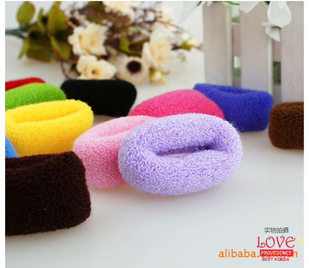 Apparel Accessories Wholesale Headbands/hair Bands Candy Color Hair Rope Headband,color Random Sending 24pcs/lot Selected Material