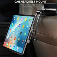Rock Car Back Seat Tablet Stand Headrest Mount Holder for iPad Air 2 3 4 5 6 Mini 1 2 3 Tablet PC Holders For Xiaomi Huawei Pad