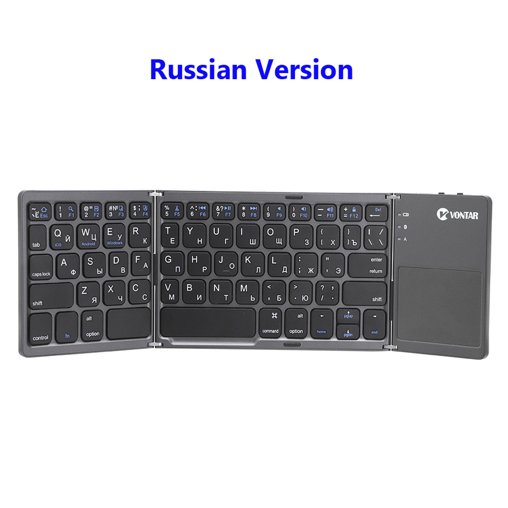 dobrável touchpad inglês russo para ios android windows ipad tablet