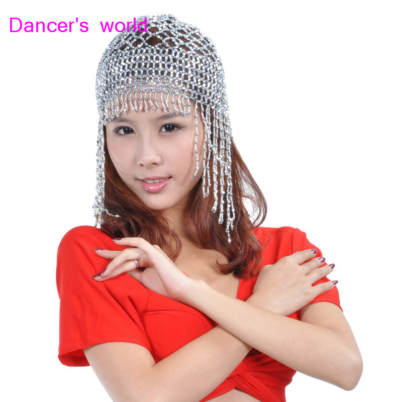 Wholesale Belly Dance Clothes Women Belly Dance Beads Hat Girls Belly Dance Tassel Hat  Belly Dance Accessories