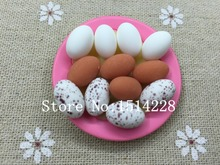 Free shipping! Resin cute miniature Egg/Quail Egg/Duck Egg for dollhouse decoration DIY .