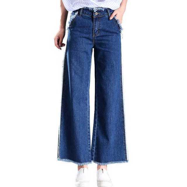 4b9cb6ecc4b  6892 Autumn winter wide leg jeans women Fashion Black Loose Plus size  26-40 Flare Denim jeans womens Bell bottom jeans woman
