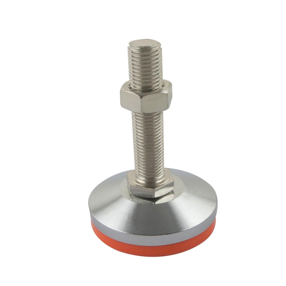 M20x100mm Adjustable Foot Cups 80mm Diameter Chrome Plated M20 Thread 100mm Length Articulated Leveling Foot