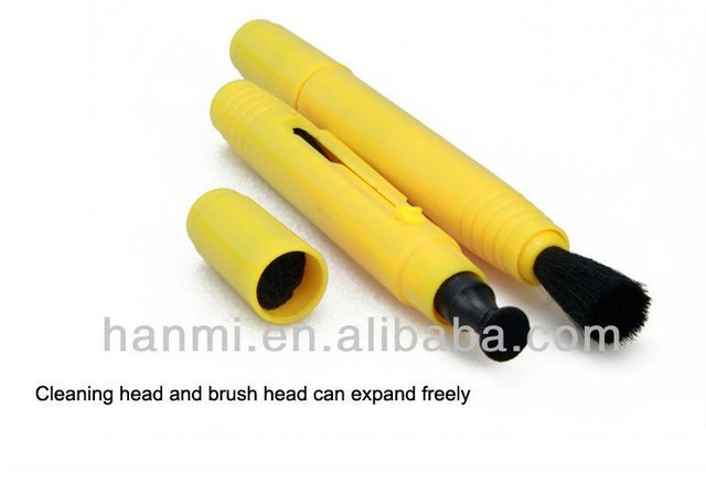 Tracking Number+1PC Yellow Lens Cleaning Cleaner Dust Pen Kit For Canon Nikon Sony camera Sony DC lens filter