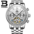 Switzerland BINGER watches men luxury brand Tourbillon multiple functions water resistant Mechanical Wristwatches B-8603M