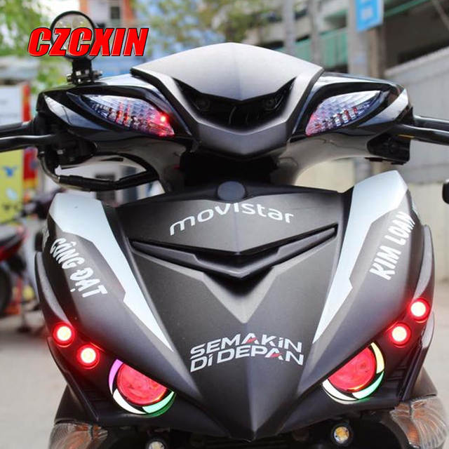 Motorcycle headlight modified HID decorate &warning headlamp front lamp for  YAMAHA Exciter150 MXKING150 Y15ZR