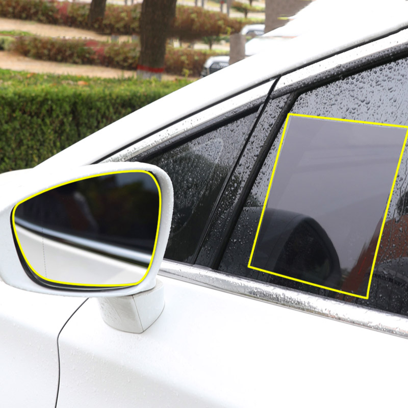 Car Rearview Mirror Protective Film Anti Fog Side Windows Clear Rainproof Anti Fogging Soft Film Auto Safe Driving Accessories