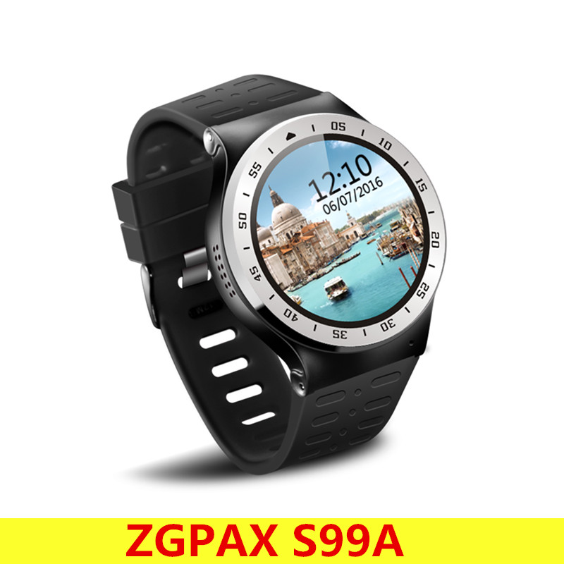 ZGPAX S99A 3G Android 5.1 MTK6580 Quad Core Smart Watch Phone 1.33 inch Bluetooth 4.0 8GB ROM 2.0MP Camera WiFi Wrist Watch