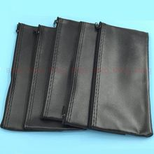 10pcs Professional Wired Microphone Holder Leather Case With Zipper For Shure Microphone Bag Accessories or Cable 23*11 cm