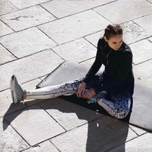 Quick Dry Breathable Black Printed Pants